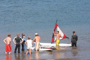 Windsurfing Lesson in progress